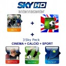 Sky Italia Subscription SkyTV+Calcio<br>+Sport+Cinema+Premiere League<br>12 Months