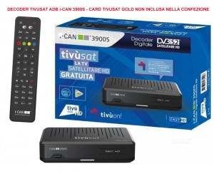 DECODER TIVUSAT ADB i-CAN 3900S CARD TIVUSAT GOLD NON INCLUSA