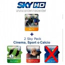 Sky Italia  Prepaid-Karte HD Sky TV + Calcio + Cinema<br>Bis  September, 2019