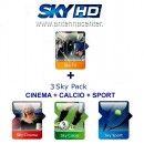 Sky Italia  Prepaid-Karte HD Sky TV + Calcio + Sport + Cinema<br>Bis  30. September, 2019