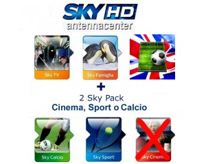 Sky Italia Subscription SkyTV + Famiglia + Calcio + Sport + Premiere League<br /> 1 Year