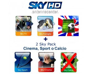 Sky Italia Subscription SkyTV + Famiglia + Cinema + Sport + Premiere League<br /> 12 Months