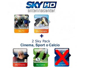 Sky Italia Subscription SkyTV + Famiglia + Calcio + Cinema 1 Year